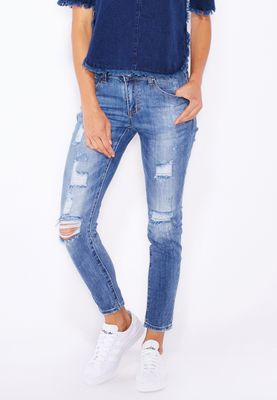 Ginger Ripped Skinny Jeans