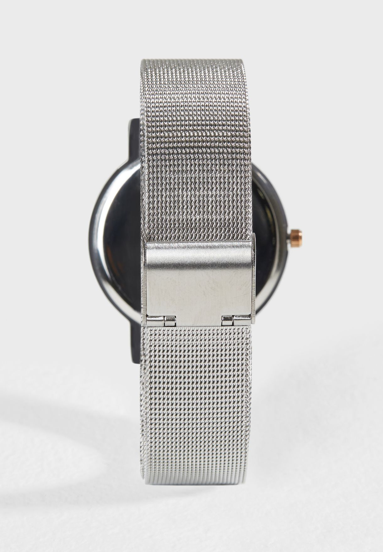 Dark Dial Mesh Watch