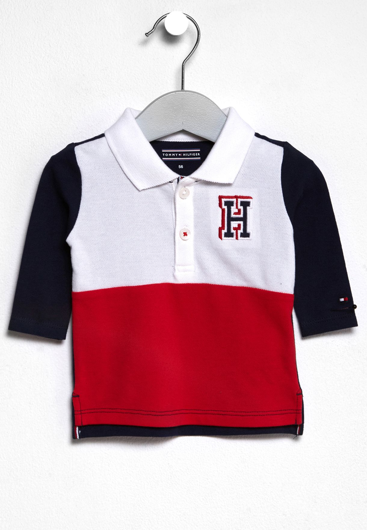d314ee352 Shop Tommy Hilfiger multicolor Baby Colorblock Polo KN0KN00741 for ...
