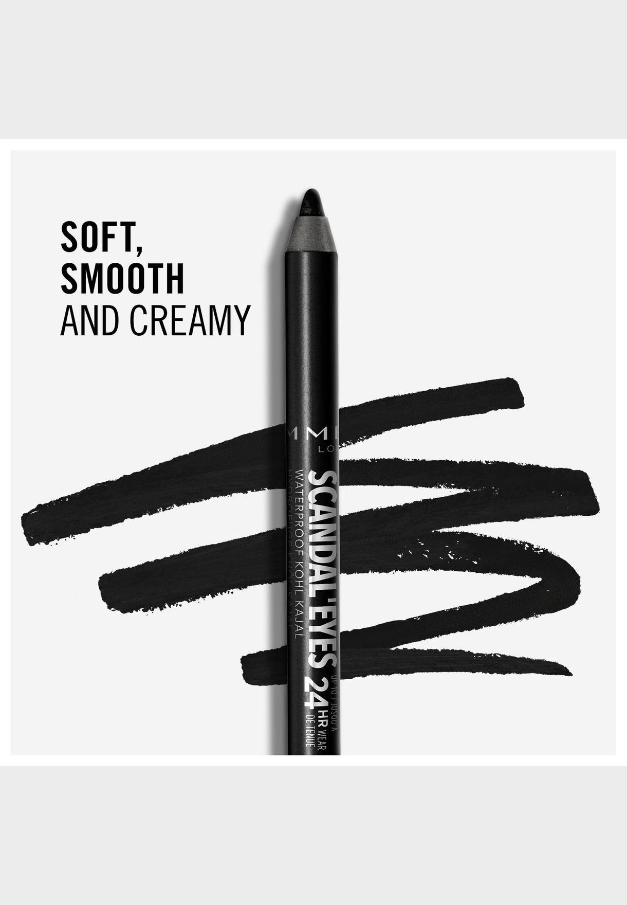 Scandaleyes Waterproof Kohl Kajal Liner- 001 Black