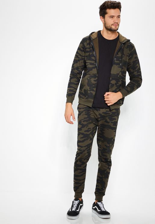 Camo Hooded Tracksuit Set