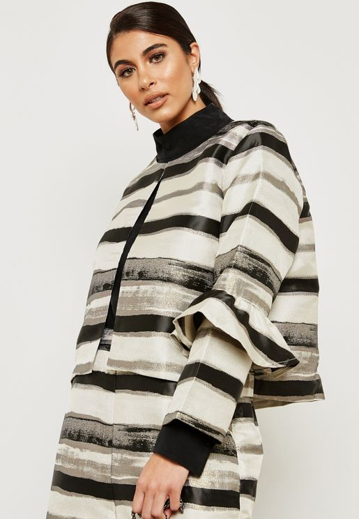 Shimmer Striped Jacket