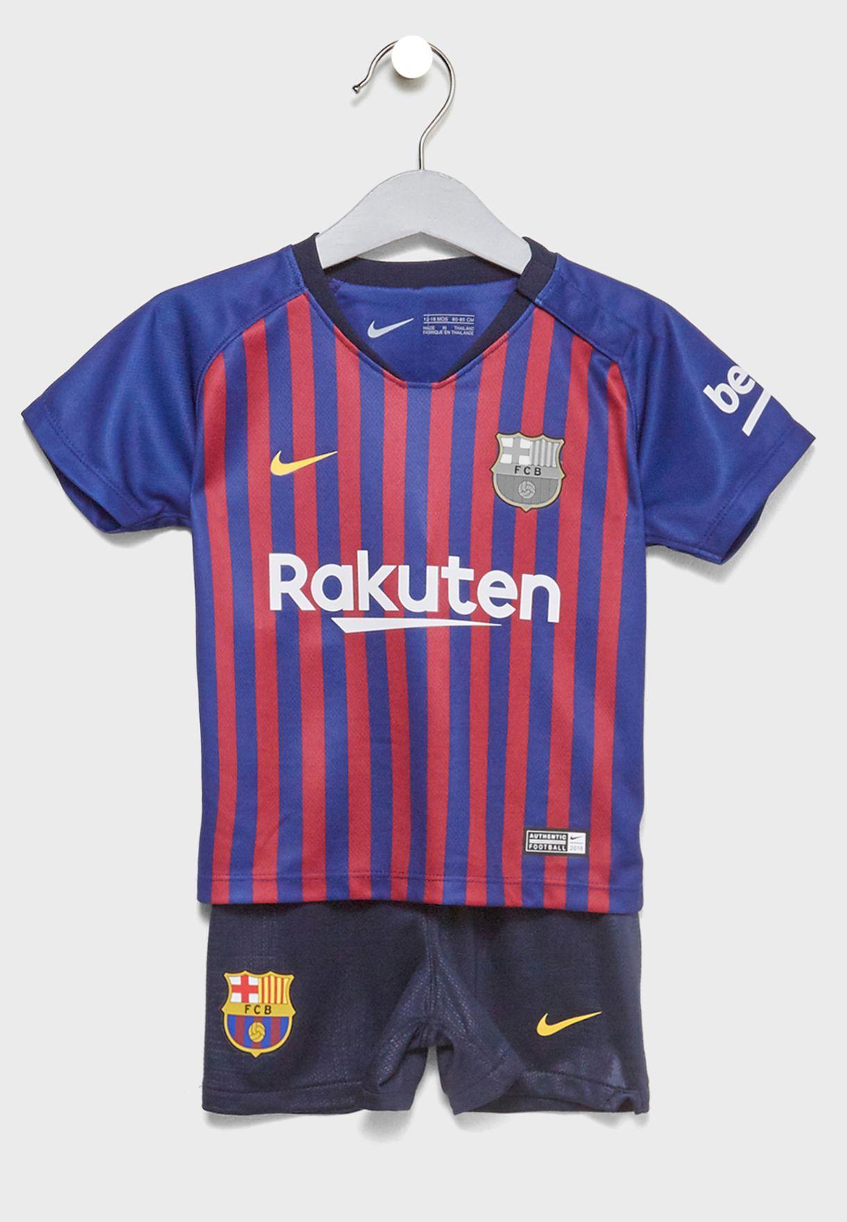 Shop Nike blue Infant FC Barcelona 18 19 Home Kit 894485-456 for ... faa96a9ee28