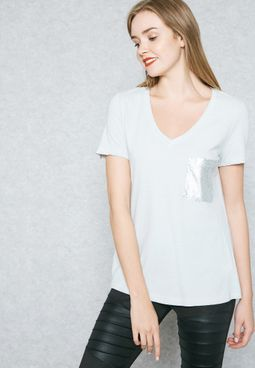 Embellished Pocket T-Shirt