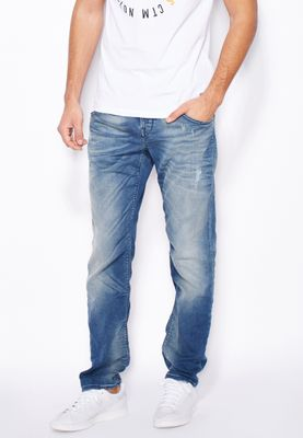 Jack & Jones Mike Slim Fit Mid Wash Jog Jeans