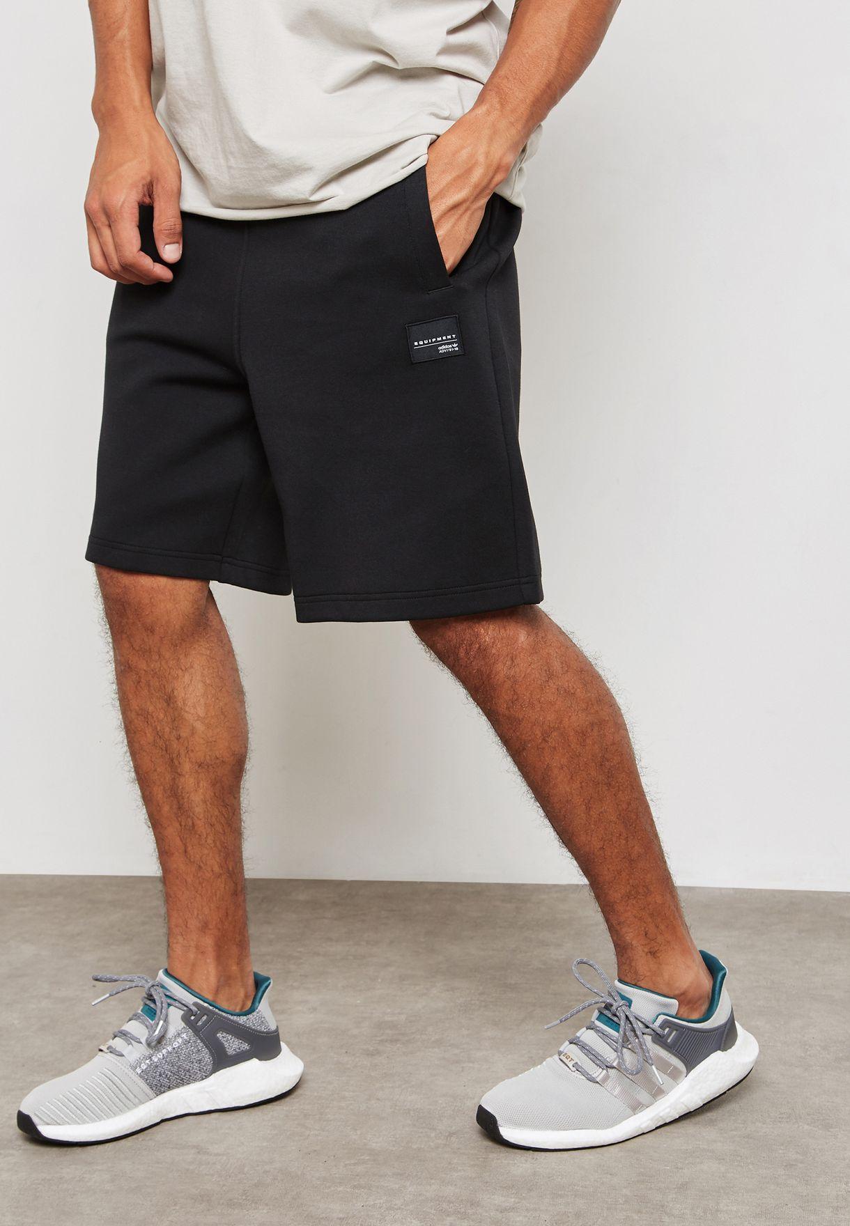 Buy adidas Originals black EQT Shorts