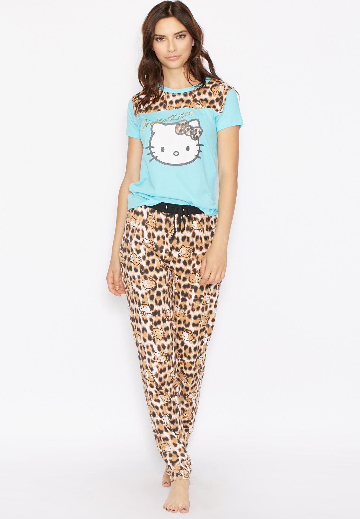 b1f1f64ae Shop Hello Kitty multicolor Printed Pyjama Set for Women in Bahrain ...