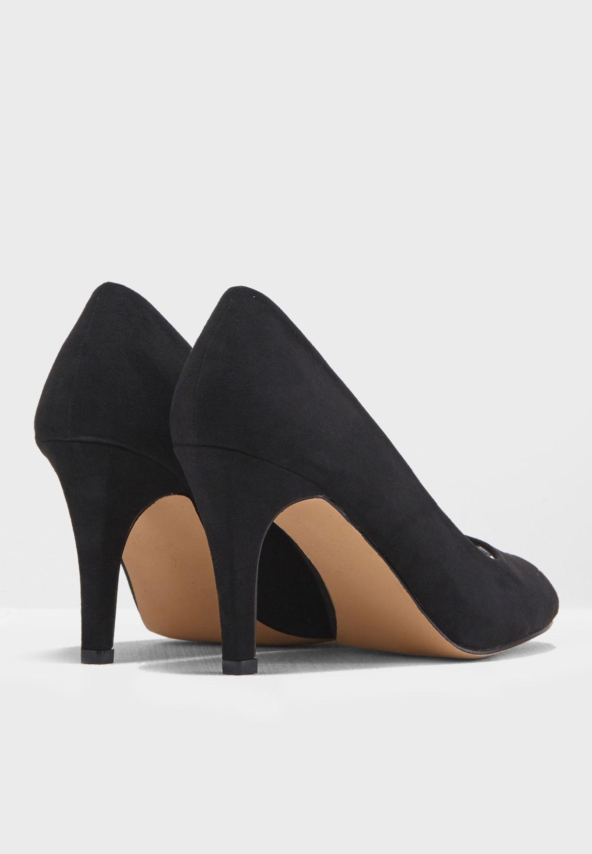 f2426d5eb68 Shop Dorothy Perkins black Wide Fit Clover Court Shoes 35318010 ...