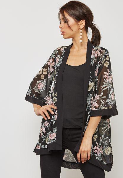 Longline Printed Kimono