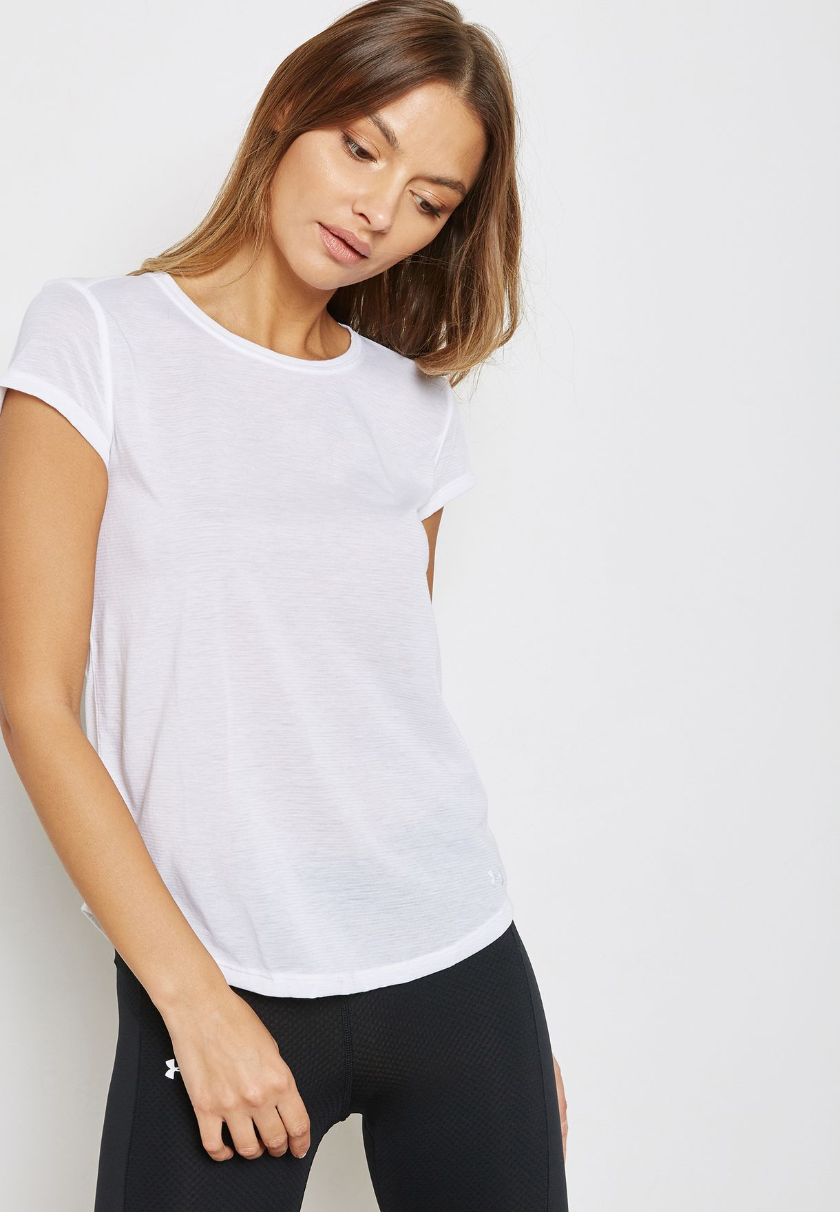 respuesta Deshabilitar garaje  Buy Under Armour white Threadborne Run Mesh T-Shirt for Women in MENA,  Worldwide | 1300188-100