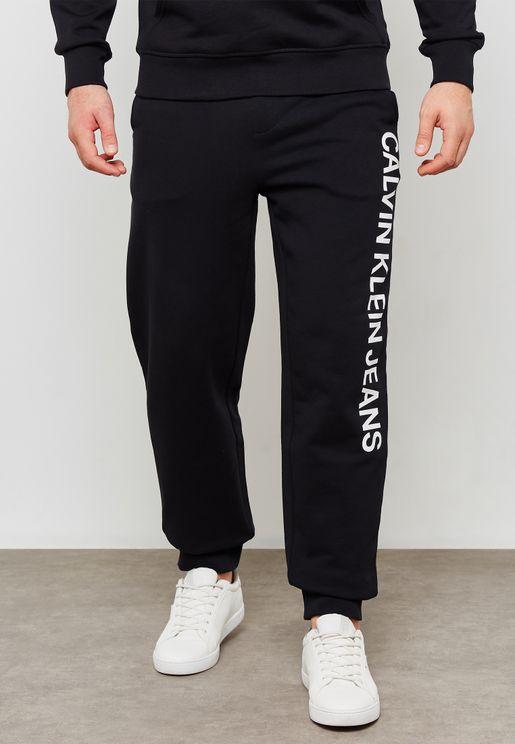 Side Print Logo Sweatpants