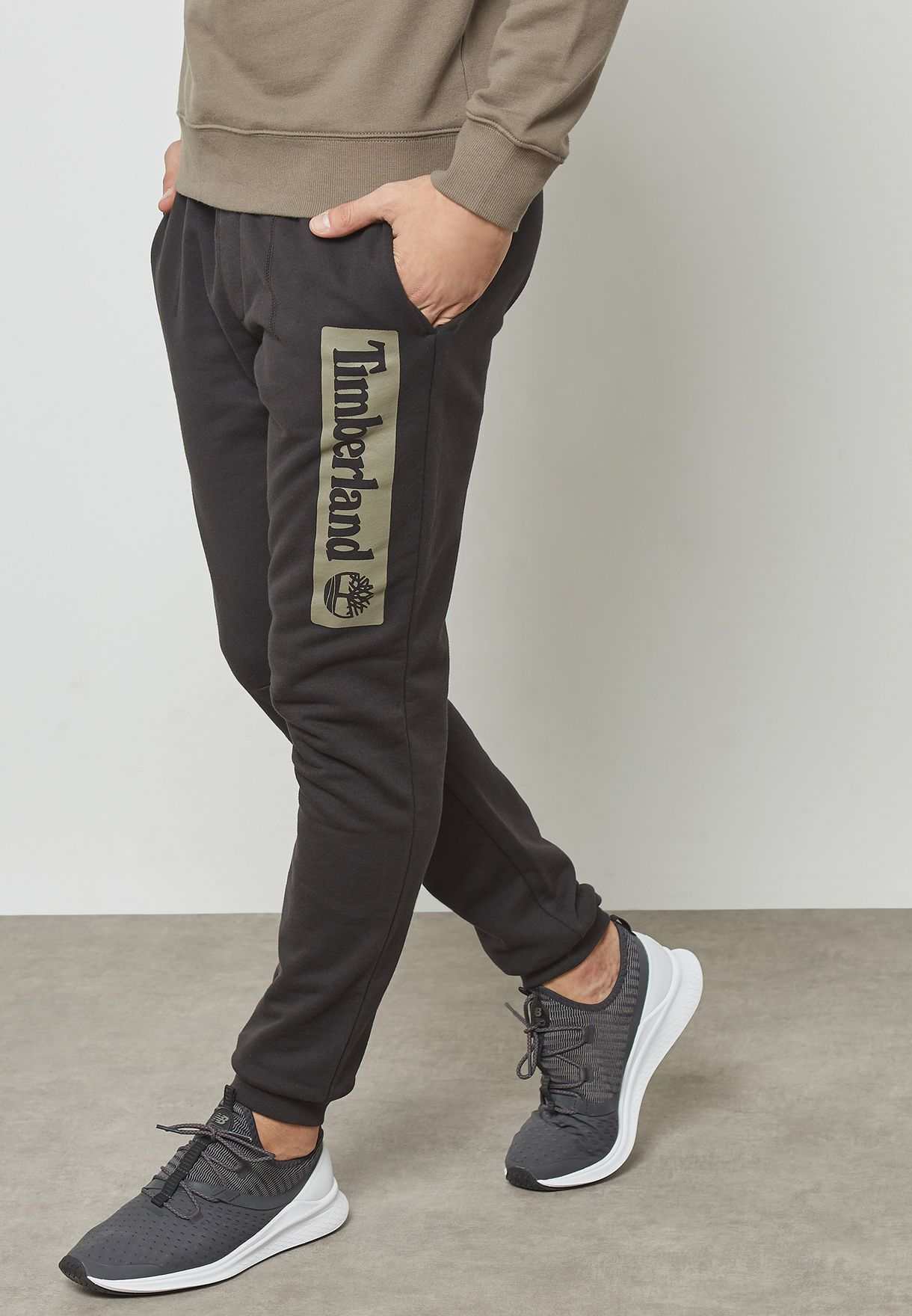 307518fb779 Shop Timberland black Logo Sweatpants A1MBX-001 for Men in Kuwait ...