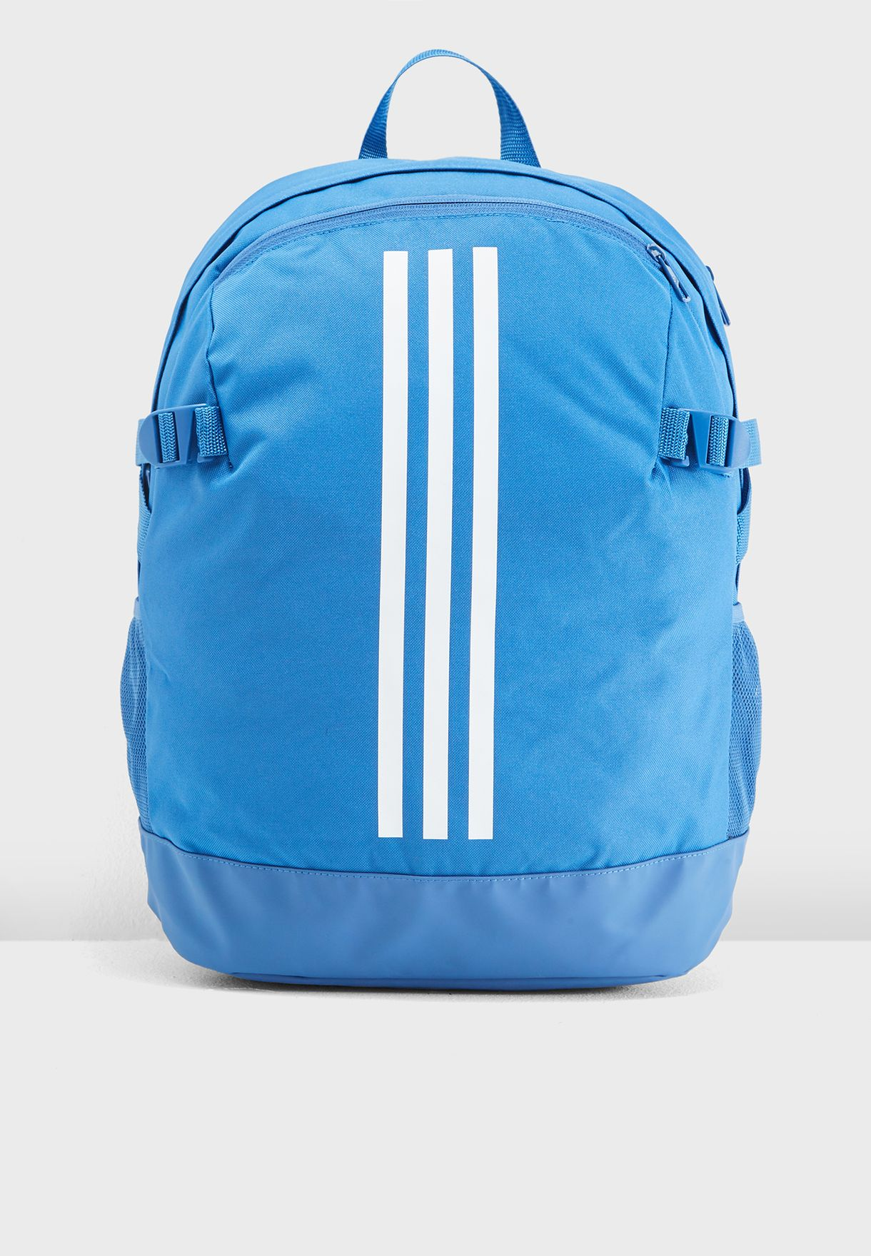 47e05b0e6f20 Shop adidas blue Medium 3 Stripe Power Backpack DM7684 for Men ...