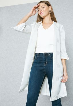 Side Slit Duster Coat