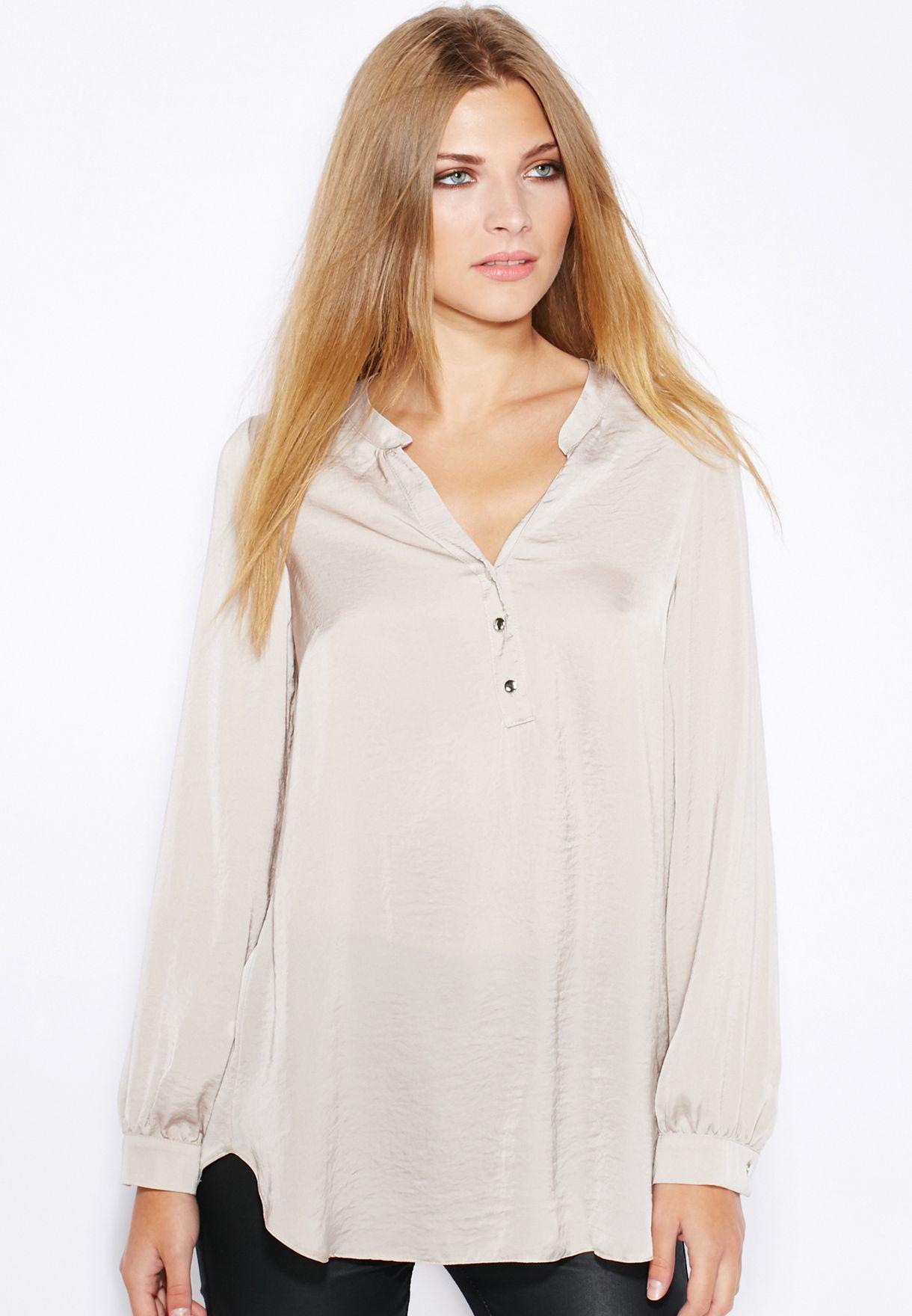 89e559a889dbe Shop Wallis grey Placket Shirt for Women in Bahrain - WA854AT90DKN