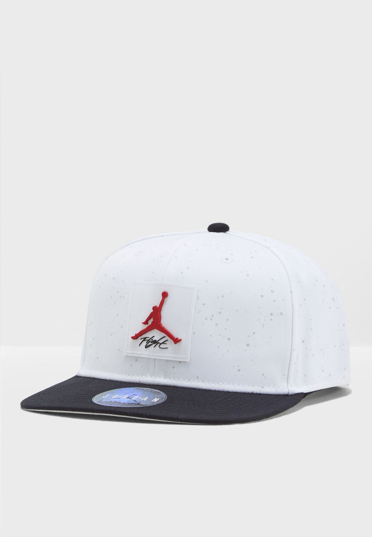 2ed5aaae856 Shop Nike monochrome Jordan Pro AOP Snapback AA1310-100 for Men in ...