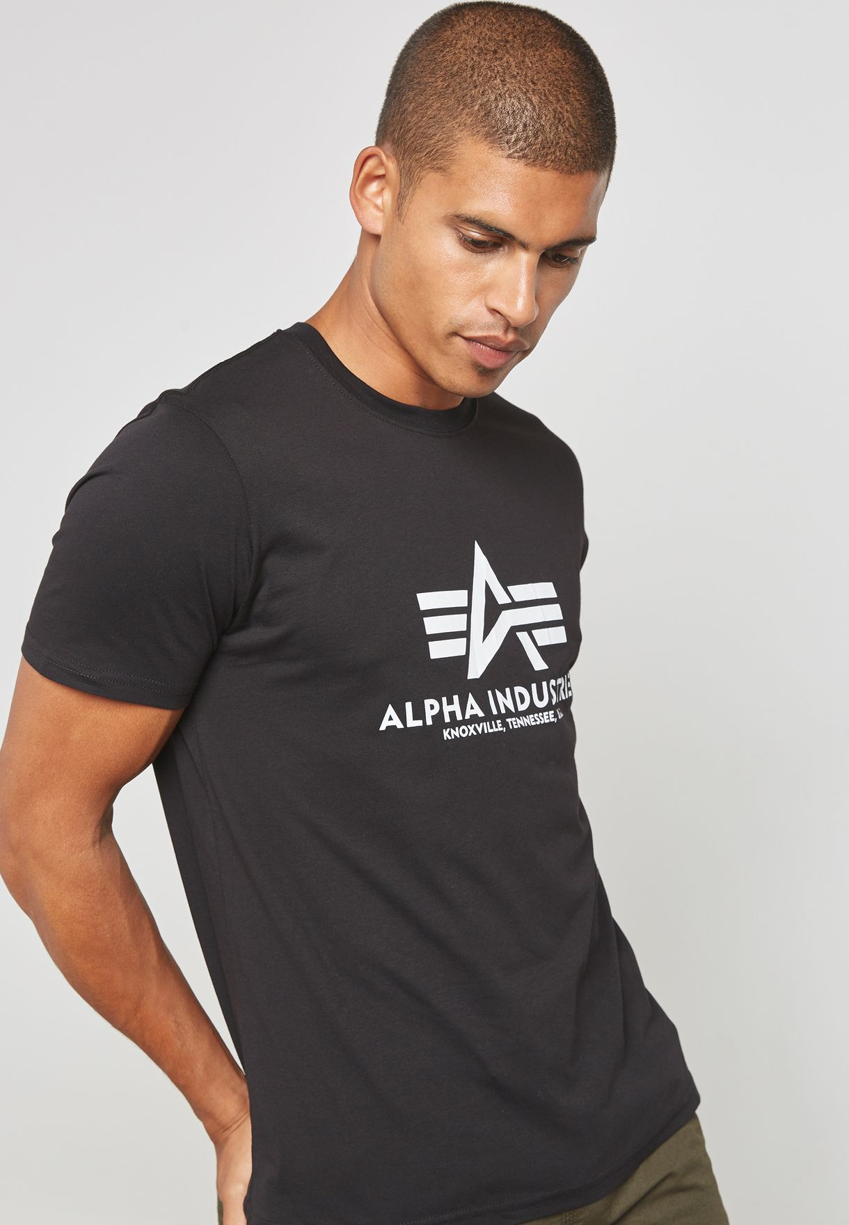 Olive Alpha Industries Basic Crew Neck T-Shirt