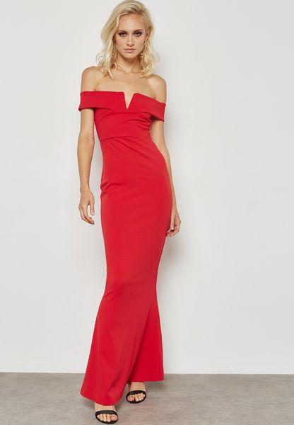 Fishtail Bandeau Maxi Dress