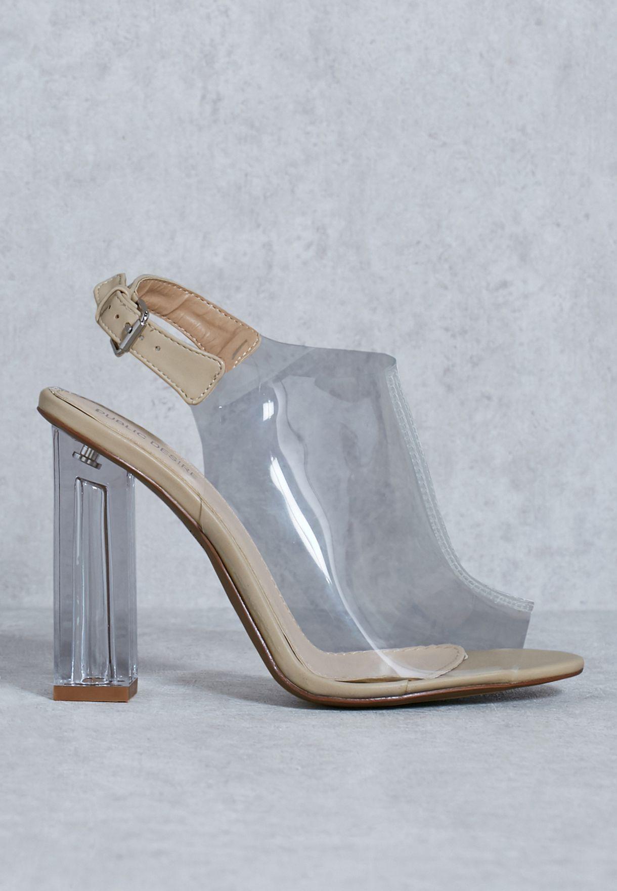 a97757dd505 Shop Public Desire neutrals Peeptoe Slingback Heeled Sandal KIMMY - 1 for  Women in Qatar - PU280SH80CBB
