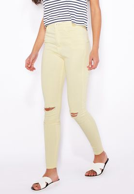 Ginger Knee Slit Tube Skinny Jeans