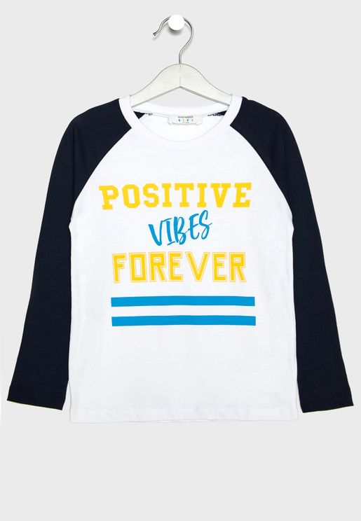 Kids Positive Vibes T-Shirt