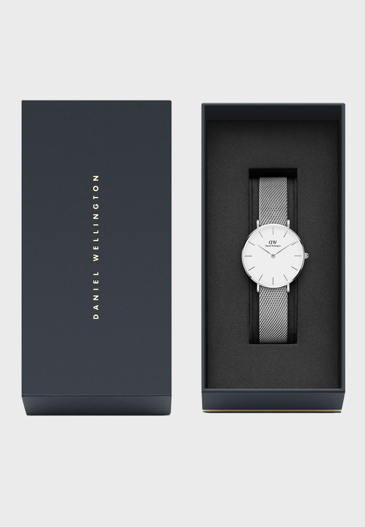 Petite Sterling Silver White 28mm Watch