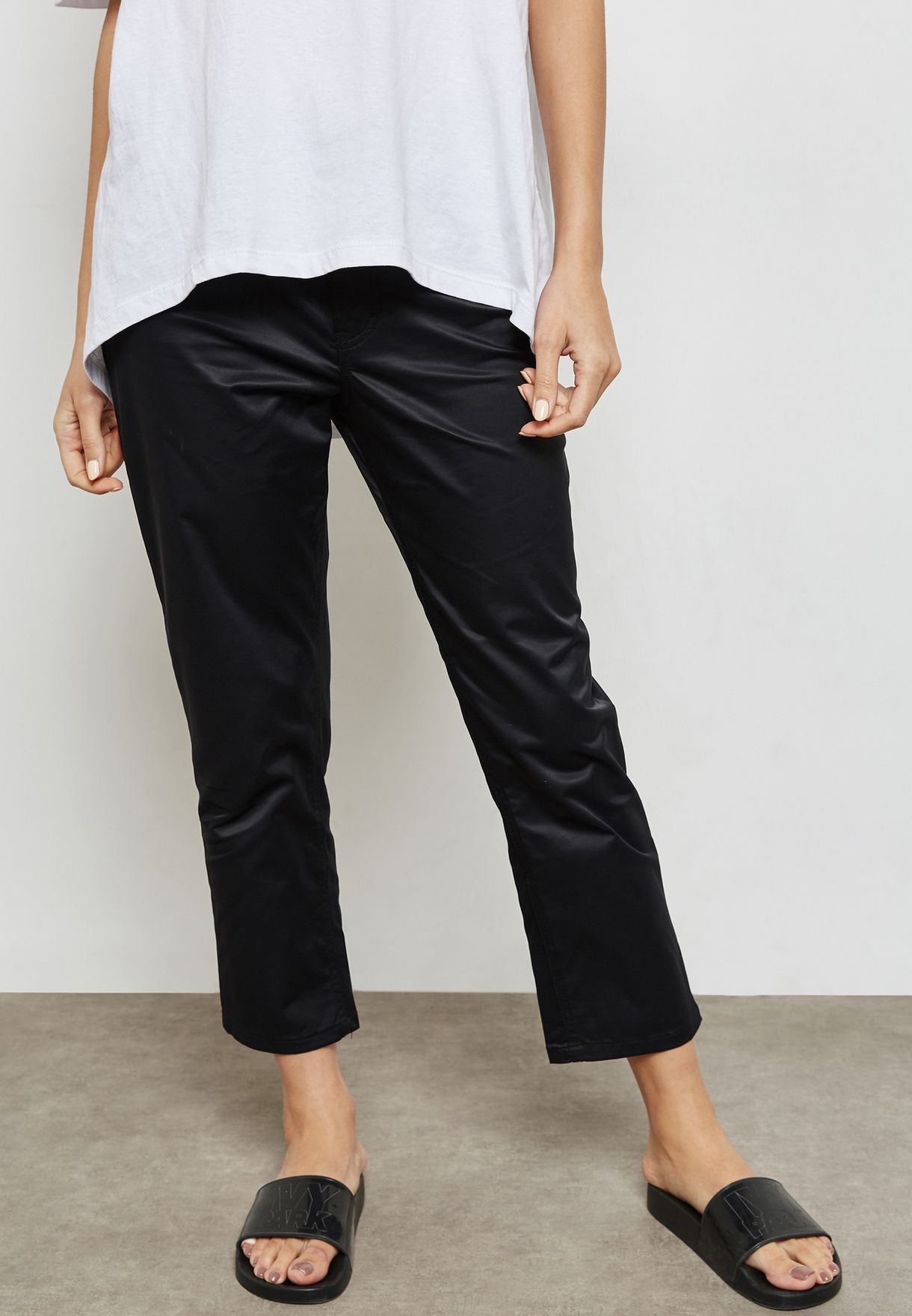 53e1f16aad80a7 Shop Cheap Monday black Revive Raw Hem Straight Jeans 0491304 for Women in  Qatar - CH230AT80QNV