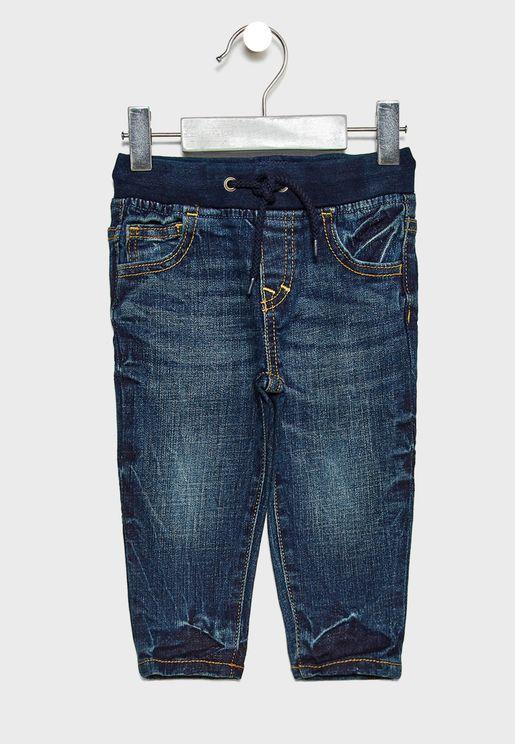 Infant Tie Waist Jeans