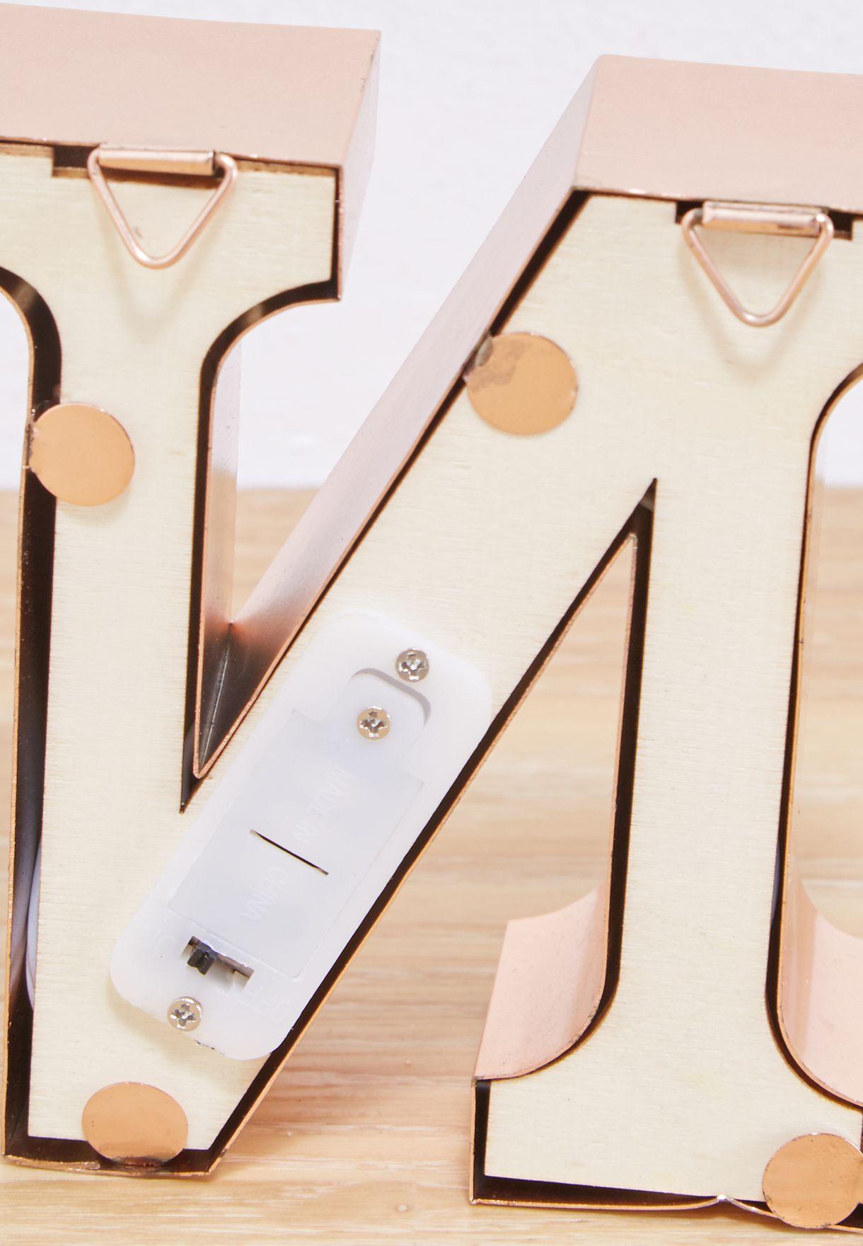 """وحدة اضاءة صغيرة بشكل حرف """"N"""""""