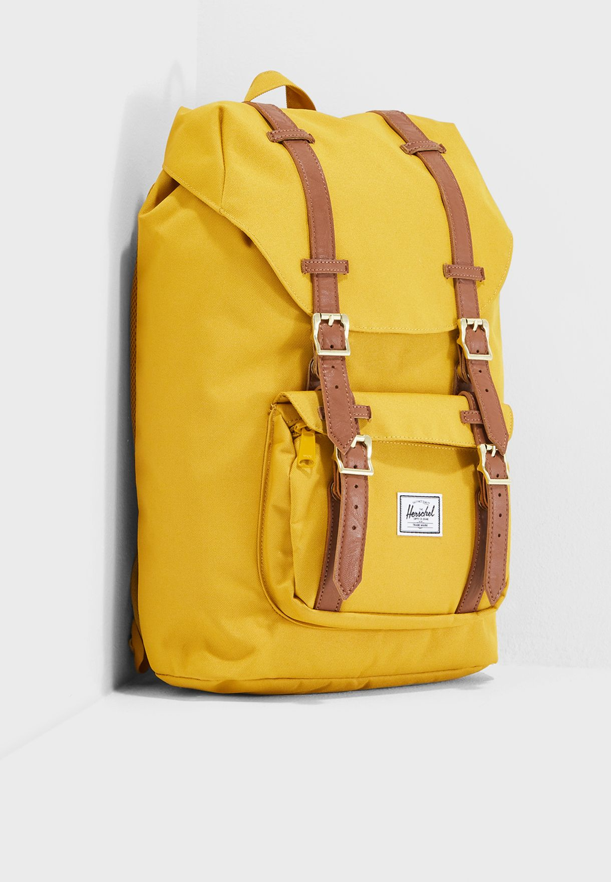 4754b3332ae Shop Herschel yellow Little America Mid-Volume Backpack 10020-02074 ...