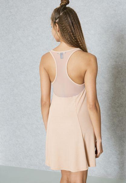 Shop Forever 21 beige Skater Dress 00321799 for Women in UAE delicate 326a3172c