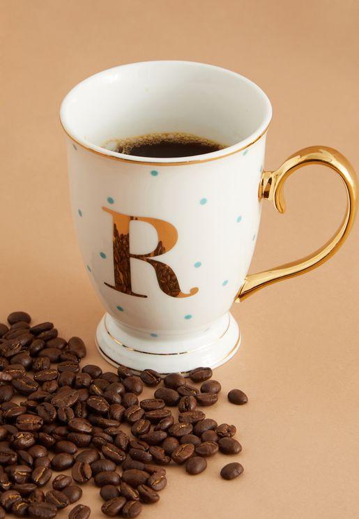 R Alphabet Spotty Mug