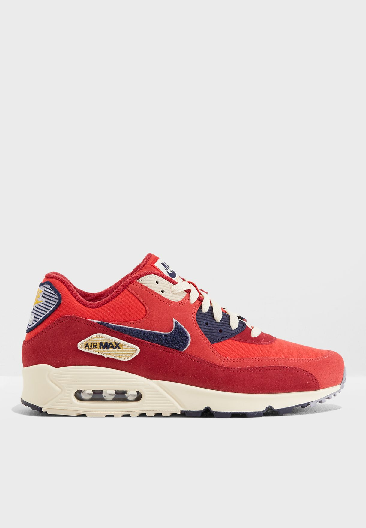 480a720783 Shop Nike red Air Max 90 Premium SE 858954-600 for Men in Qatar ...
