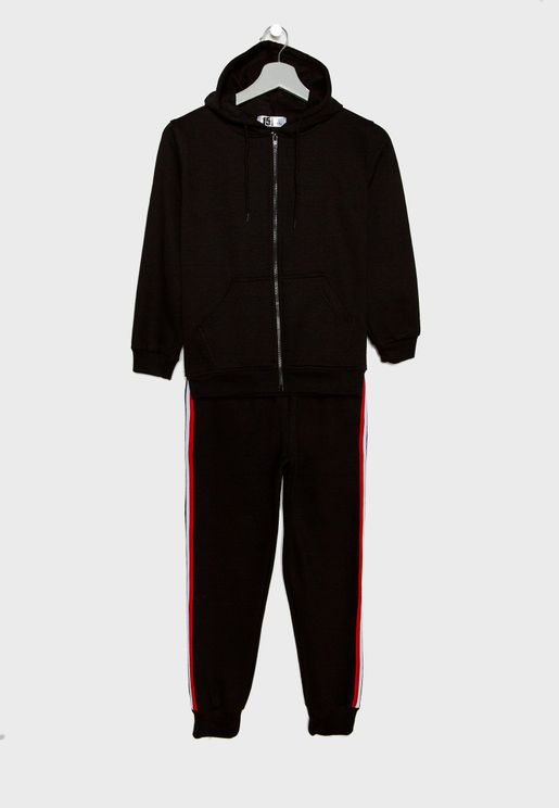 Kids Side Striped Tracksuit