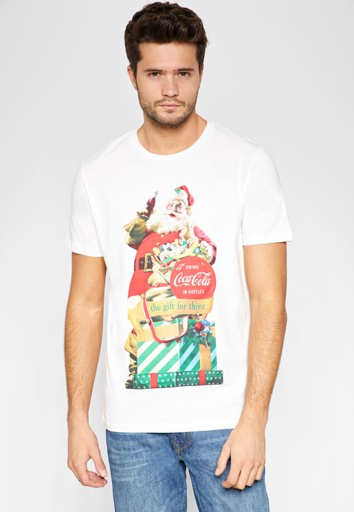 Santa  Crew Neck T-Shirt