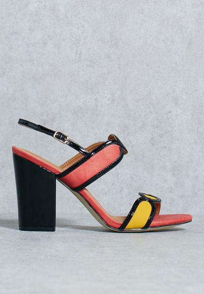 Color block sandal