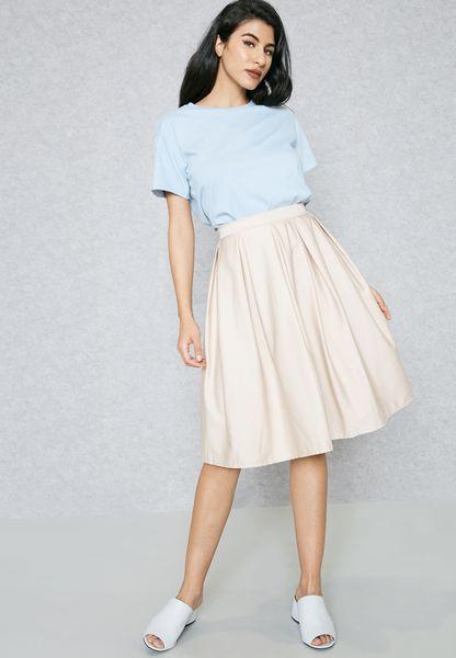Box Pleat Skater Skirt