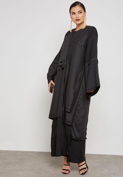 One Side Embellished Abaya