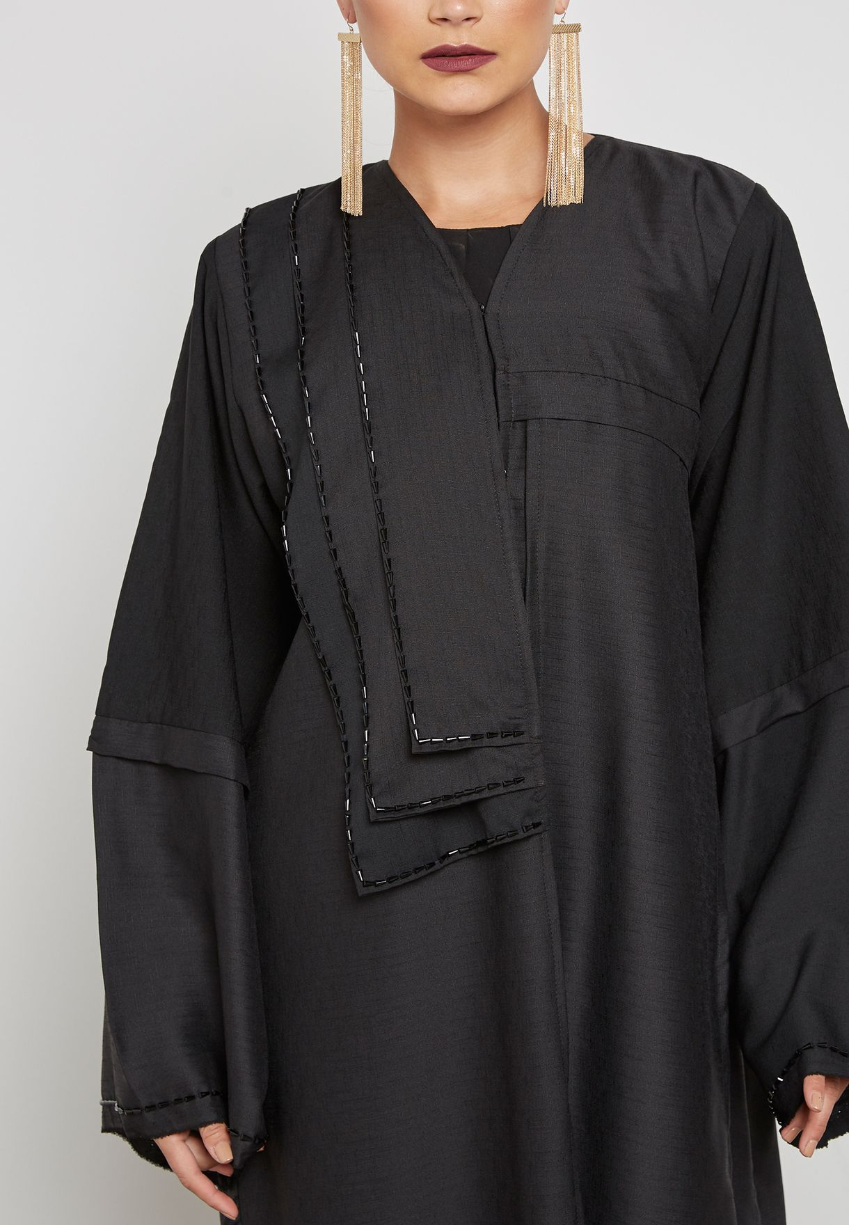 One Side Embellished Abaya