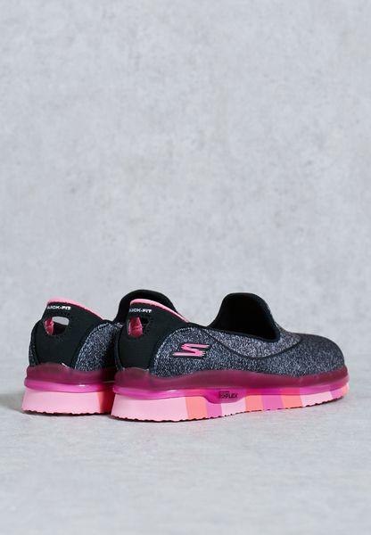 6927e1ea675479 hot sale Shop Skechers grey Go Flex Kids 81078LBKHP for Children in ...