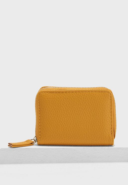 Ochre Zip Around Cardholder