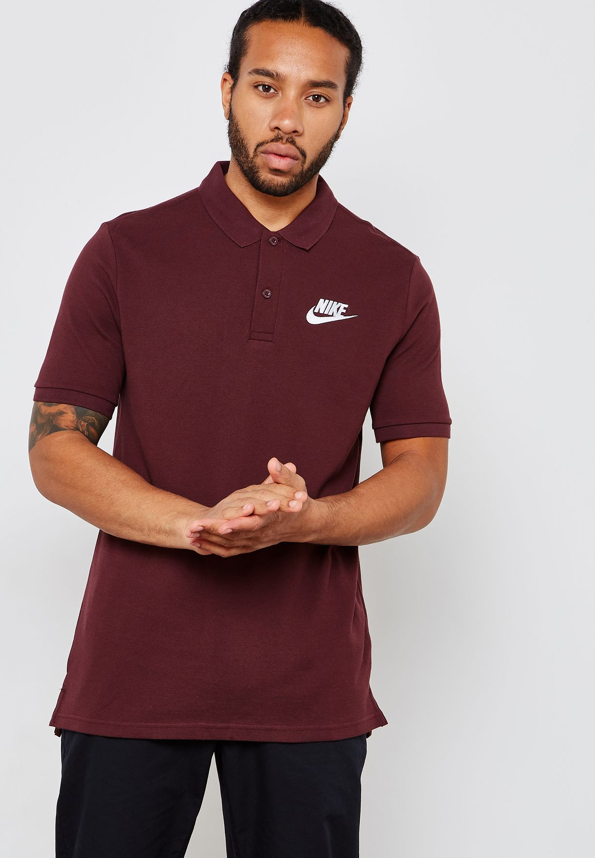 6c31f94119d3f Shop Nike burgundy Matchup Pique Polo 909746-652 for Men in UAE ...
