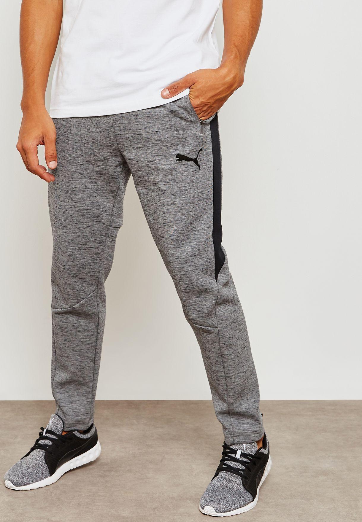 3748c84e72ad Shop PUMA grey Evostripe Sweatpants 85172403 for Men in Saudi ...
