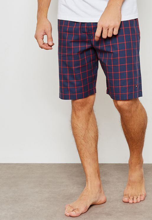 Tommy Hilfiger Checked Woven Shorts