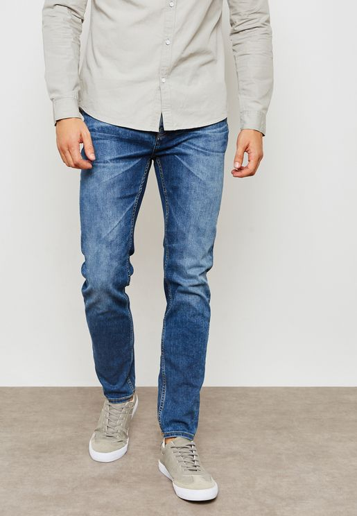 Carter   Skinny Fit Mid Wash Jeans