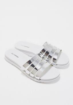 Giovine Multi Stap Flat Sandals