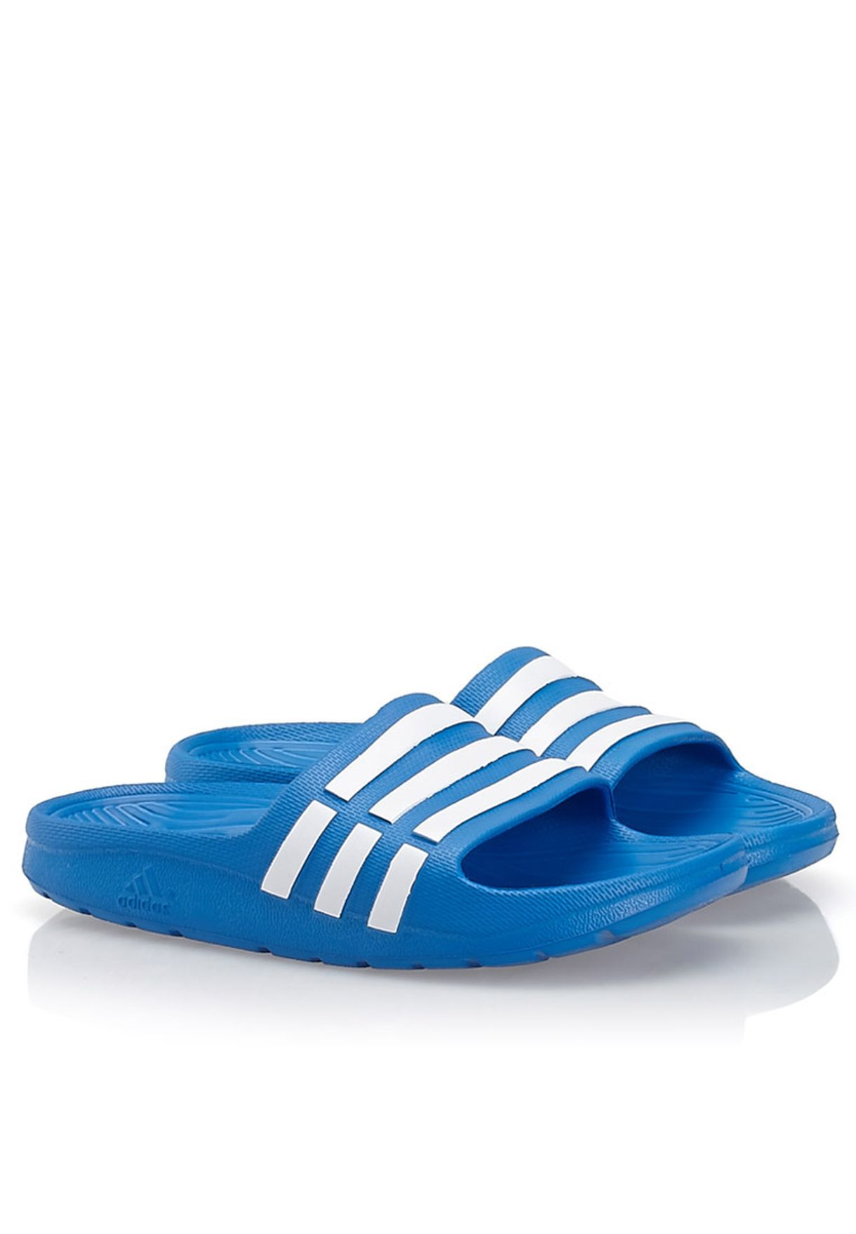 0e921ddb2 Shop adidas blue Duramo Slides D67479 for Kids in Qatar - AD476SH80JIX