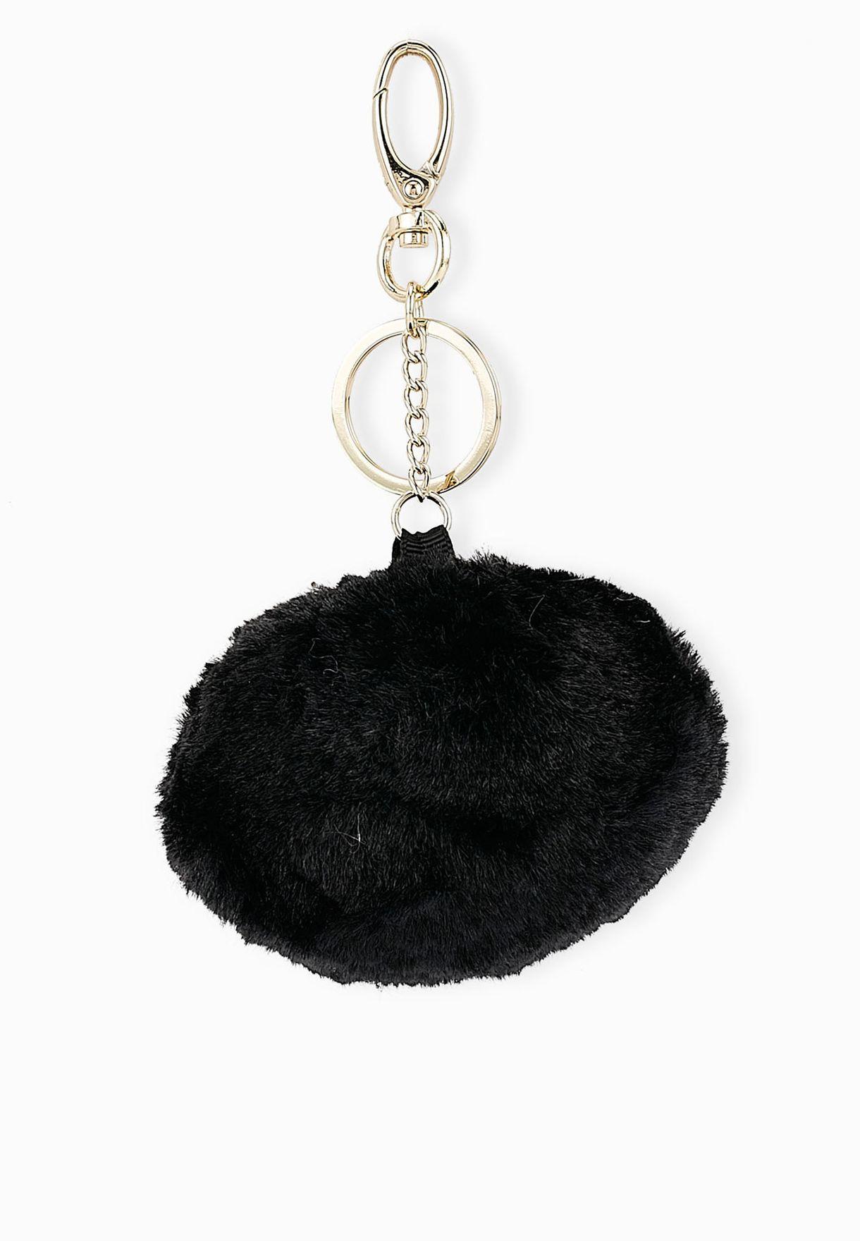 Shop Ginger black Big Pom Pom Key Ring for Women in Qatar - GI121AC80EFZ 54200be3e07e5