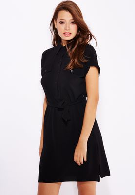Ginger Belted Pocket Shirt Dres