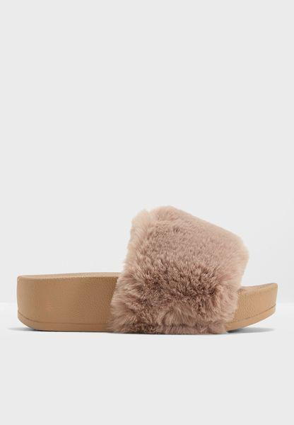 Fur Flatform Slider
